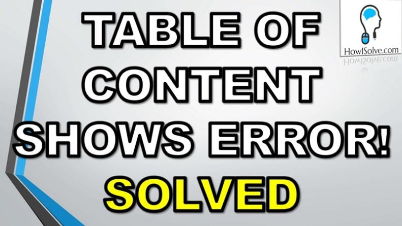 Error Bookmark Not Defined 1