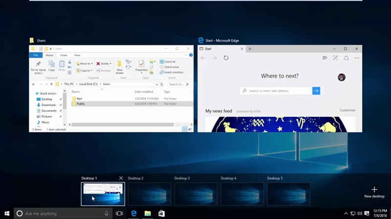 Windows 10 Virtual Desktop