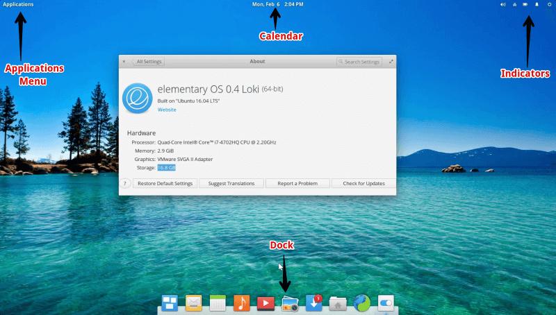Elementary OS Desktop