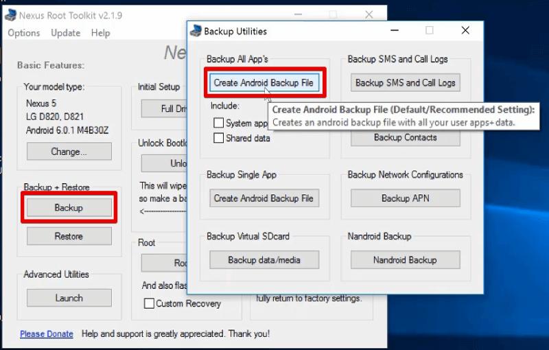 Backup User Downloaded Apps