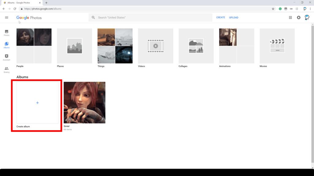 Create Google Photo Album