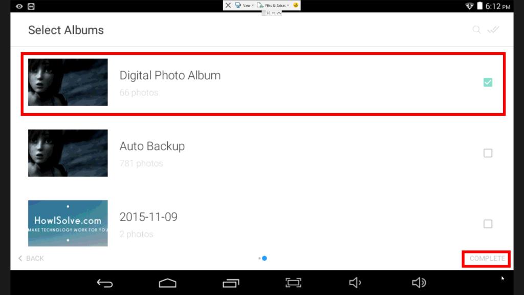 Select Google Photo Album