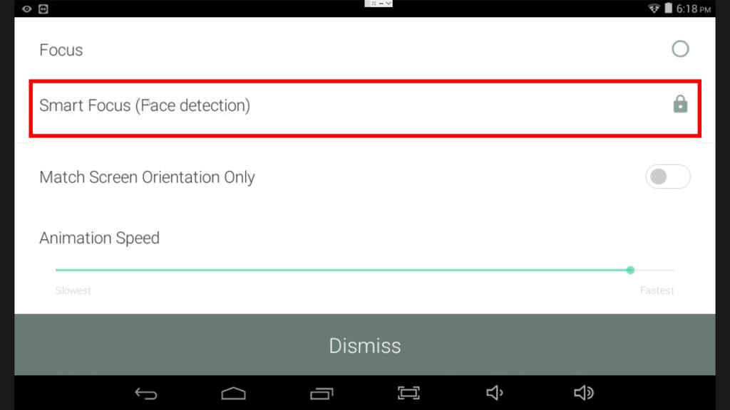 Enable Smart Focus Face Detect