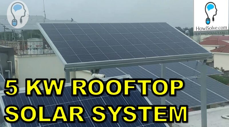 Solar System for Home 5 kW On Grid Price Subsidy