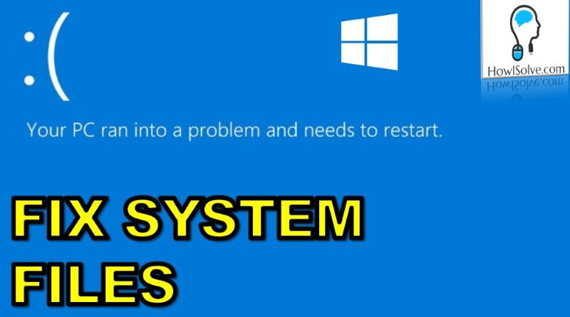 Fix Corrupt Windows 10 System Files